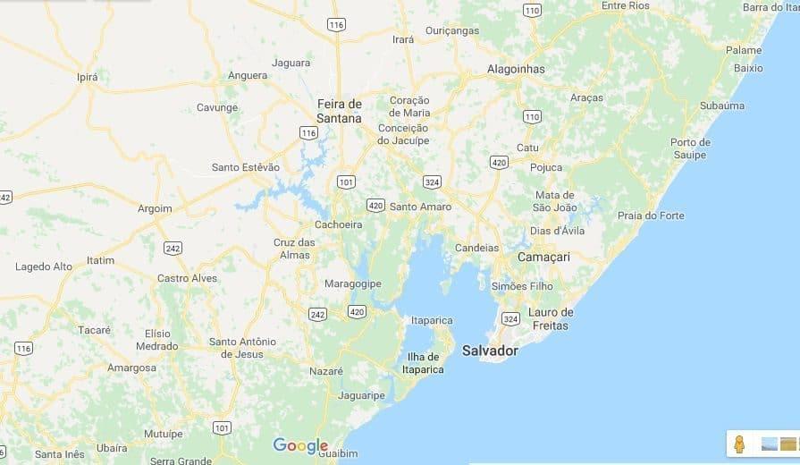 mapa cidade feira de santana